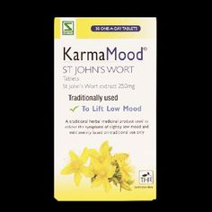 Schwabe Pharma Karma Mood St Johns Wort 250mg Karma Mood St Johns Wort is a traditional herbal medicinal product used to relieve the symptoms of slightly low mood and mild anxiety, exclusively based upon long-standing use as a traditional remedy. http://www.MightGet.com/march-2017-1/schwabe-pharma-karma-mood-st-johns-wort-250mg.asp