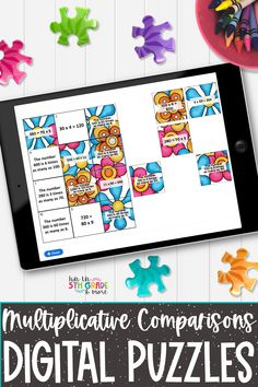 Help your students practice multiplicative comparisons with these digital puzzles. These digital puzzles are no prep, self checking & differentiated. Your students will be engaged while reviewing multiplicative comparisons with this math activity! These digital puzzles can be used on any device with internet connection. Perfect for partner work, indpendent work and distance learning. Elementary Math, Upper Elementary, Fun Math, Math Activities, Math Websites, Math Strategies, Help Teaching, Differentiation, Math Classroom