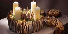 Rindenadventkranz Bernhard K gi Christmas Advent Wreath, Christmas Candles, Christmas Home, Christmas Holidays, Xmas Flowers, Advent Candles, Diy Rustic Decor, Arte Floral, Xmas Decorations
