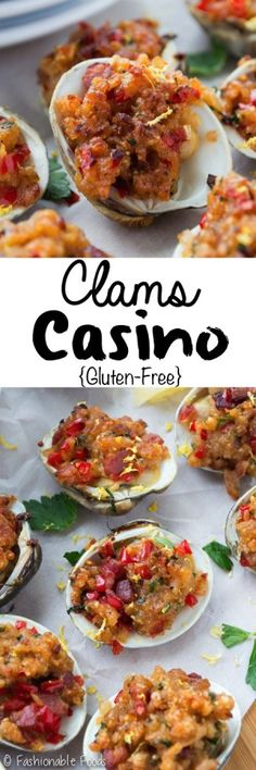 Clams Casino – Fashionable Foods Sweet and tender steamed clams are topped with a flavorful breadcrumb topping before being broiled to perfection. Clams casino is a restaurant classic that's easy to make at home! Clam Recipes, Seafood Recipes, Cooking Recipes, Shellfish Recipes, Oyster Recipes, Chilli Recipes, Restaurant Recipes, Asian Recipes, Fish Dishes