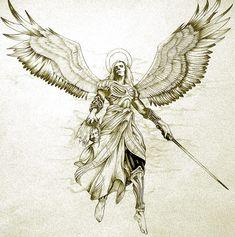 Engel Tattoos Schutzengel