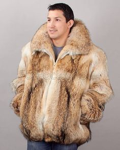 Fur Fashion for men...LMAOOOOOO. Its not ok to wear this unless you are  in immediate danger of freezing to death