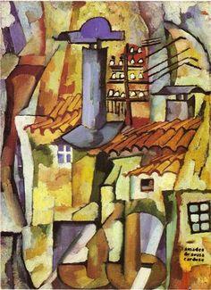 Amadeo de Souza-Cardoso was a Portuguese painter born in Mancelos, a parish of Amarante. Building Painting, Modernisme, Georges Braque, Art Database, Office Art, Contemporary Paintings, Cat Art, Art Blog, Painting Inspiration