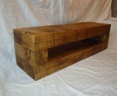 Chunky Rustic Pine TV Stand and End Table in Home, Furniture & DIY, Furniture, TV & Entertainment Stands Tv Stand And End Tables, Tv Table Stand, Tv Stand Unit, Diy Tv Stand, Rustic Furniture, Diy Furniture, Tv Stand Room Divider, Plasma Tv Stands, Swivel Tv Stand