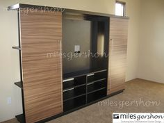 Morgen Sliding Door Wall Unit - Sienna Wall Unit - with panel for TV mount (open) | Flickr - Photo Sharing!