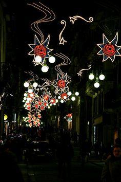 Carrer de Barcelona: Nadal. Barcelona, Catalonia