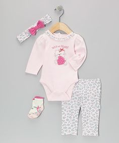Take a look at this Pink Wild at Heart Bodysuit Set - Infant by Vitamins Baby on #zulily today!