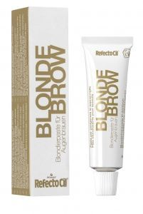 To lighten eyebrows up to 3 shades - Or to color those suborn grey and white hairs! RefectoCil Blonde Brow No. 0 #eyeqbeauty