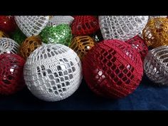 Christmas Balls, Christmas Crafts, Christmas Ornaments, Christmas Crochet Patterns, Embroidery Designs, Homemade, Holiday Decor, Inspiration, Crocheting