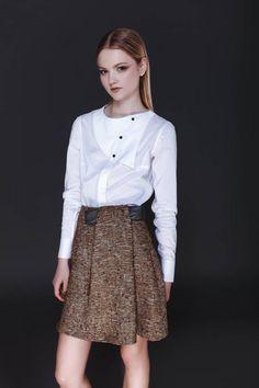 Vintage 1950s Grey Cotton Floral Swing Dress, Wildman Original, Medium