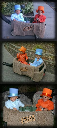 Dumb and Dumber Halloween costume. Coolest kids ever... correction, coolest parents ever!