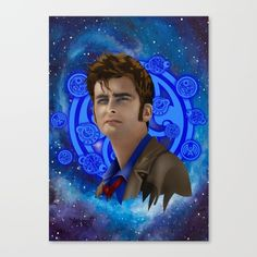 Doctor Who 10th generation Canvas Print #canvasprint #artdesign #frameart #artprinting #doctorwho #10thdoctor #davidtennant #tardis #summer #tenthdoctor #halloween #vangogh #starrynight #mist #fog
