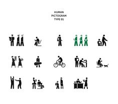 Human pictogram series | 2015 on Behance