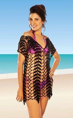 Crochet Beach Dress, Bikinis Crochet, Crochet Blouse, Crochet Cover Up, Knit Crochet, Hairpin Lace Crochet, Crochet Woman, Crochet Designs, Crochet Clothes