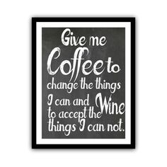 Coffee Kitchen Art Typography Chalkboard Poster by GeekChicPrints, $24.00