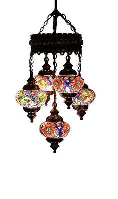 5 ball 110230v Turkish Moroccan Hanging Glass by worldsaleslamp, $89.00