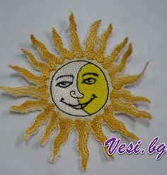 "The ""Sun-moon"" machine embroidery"