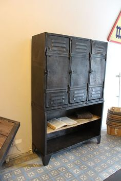 "Industrial furniture: What a great focal point for your ""Uptown Town"" apartment."