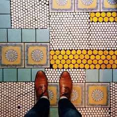 When you run out of like tiles make a puzzle bathroom floor like this! Stunning. September 1, 2013 12:23 PM | Tim Melideo | VSCO Grid