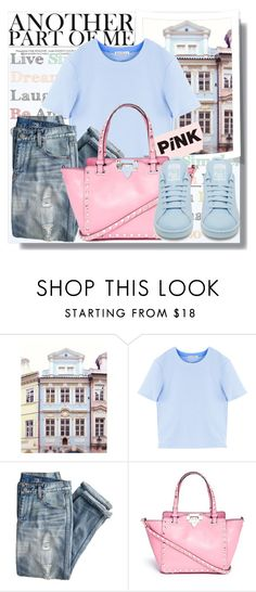 """""""Casual Pastels"""" by myfashionwardrobestyle ❤ liked on Polyvore featuring Dollhouse, Acne Studios, J.Crew, Valentino and adidas"""