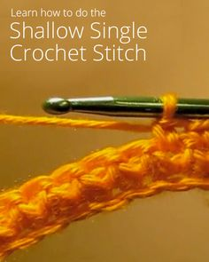 Shallow Single Crochet Stitch tutorial video on curious.com.  Produces a tight weave that is good for baskets, bowls, and bags.