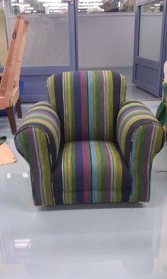 Projekti 1:  Lasten nojatuoli uudelleenverhoiltuna