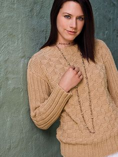 Knitting - Patterns for Wearables - Sweater Patterns - Woven Ribs Pullover
