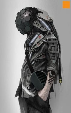 Darren Bartley concept art Character Concept, Character Art, Concept Art, Cyberpunk Character, Cyberpunk Art, Steampunk, Animation, Science Fiction, Chappie