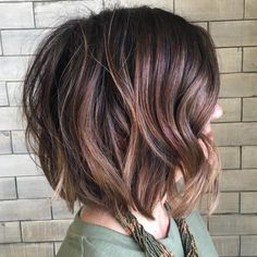 Tousled Wavy Brown Bob