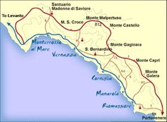 Italy's Stunning Cinque Terre: A Town-to-Town Hiking Guide: Cinque Terre Hiking Guide - A Map of the Trail System