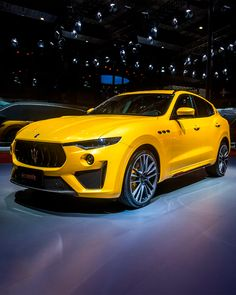 The in Giallo Modenese and black leather interiors with contrasting yellow stit. by Gears Jaguar, Maserati Suv, Maserati Levante, Ferrari, Nfl Uniforms, Jeep, Luxury Private Jets, First Time Driver, Power Cars