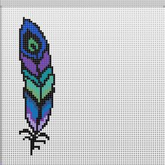 Peacock Feather Perler by PerlerAngel on DeviantArt