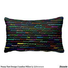 Penny Text Design I Lumbar Pillow