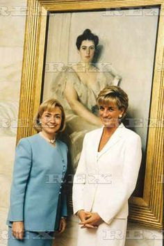 June 18, 1997: Princess Diana speaking with First Lady, Hilary Rodham-Clinton in Washington, D.C.