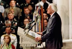 Billy Graham offers words of hope at the National Cathedral in Washington, D.C., after September 11, 2001.