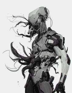 All images © Anthony Jones or their respective copyright holder. Robot Monster, Monster Art, Monster Design, Character Concept, Character Art, Anthony Jones, Vikings, Robot Concept Art, Cyberpunk Art
