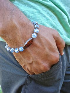 Men's Spiritual Love Protection Bracelet with Semi by tocijewelry