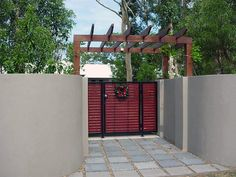 Gallery of Knotwood Gates - 8 Fence Construction, Front Fence, Driveway Gate, Outdoor Living, Outdoor Decor, Garden Gates, Cladding, Outdoor Gardens, Living Spaces