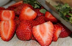 Strawberry Recipe {Oven Dried Strawberries} with tips on how to make them, tricks to keep them from becoming a sticky burnt mess, and ideas on how to serve them.  http://twolittlecavaliers.com/2013/01/strawberry-recipe-oven-dried-strawberries.html#