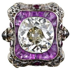 Extraordinary Antique Diamond Ring | From a unique collection of vintage more rings at https://www.1stdibs.com/jewelry/rings/more-rings/