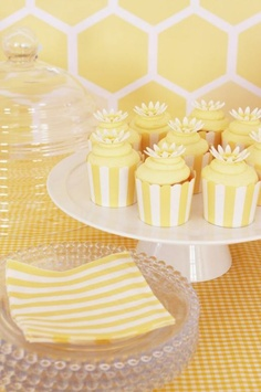 Cute cupcake sleeves yellow glory