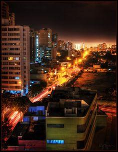 The night lights of Lima, Peru