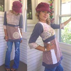 Eco Baby Doll Tunic size S/Meco clothing boho by zasra on Etsy