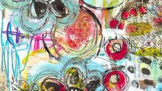 Robin Marie art journal video...love her use of ephemera and finger painting