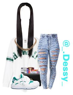 """""""Gurl Bye Df """" by coolie-fashoo ❤ liked on Polyvore featuring NIKE and Givenchy"""