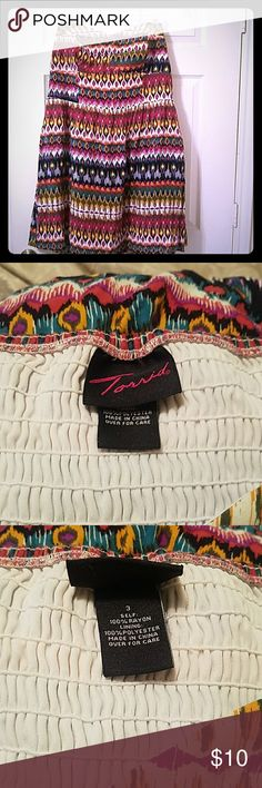 Torrid strapless tribal print dress Plus size tribal print dress, torrid size 3, strapless, great condition, accepting all reasonable offers, bundle for discounts torrid Dresses Strapless