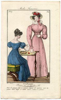 plate 29 - Modes Francaises -- L'Indescret