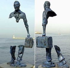 An artist took the concept of being see through too literally. This statue, created by Bruno Catalano, is located in France.