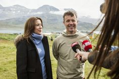 Prince Frederik and Princess Mary began an official visit to Greenland in eight days with their four children.  Yesterday they visited the village of Igaliku