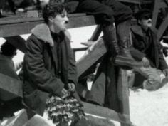 "Charlie Chaplin on location shooting ""The Gold Rush"" Northern California, Spring You can see he is wearing half of the chicken costume, for the starvation scene in the cabin, Big Jim. John Hawkes, Charles Spencer Chaplin, Behind The Screen, Bad Memories, Angels In Heaven, Screenwriting, Old Movies, Movie Stars, The Dreamers"